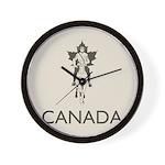 Retro Canada Wall Clock