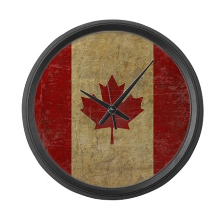 Vintage canada large wall clock by oneworldgear for Oversized wall clocks canada