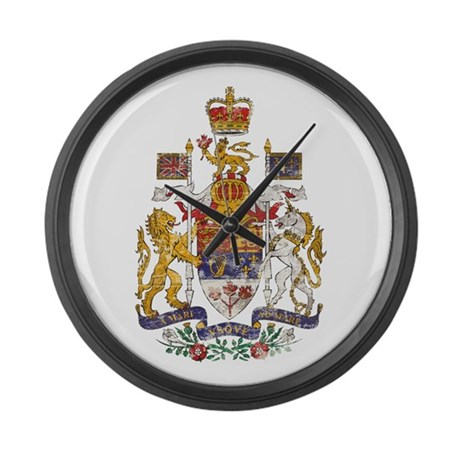 vintage canada coat of arms large wall clock by oneworldgear