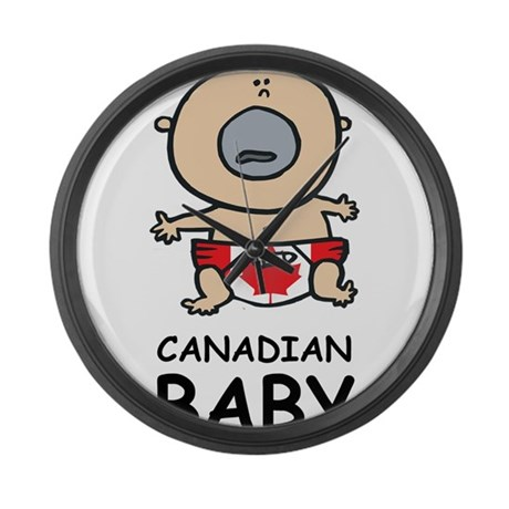 canadian baby large wall clock by oneworldgear