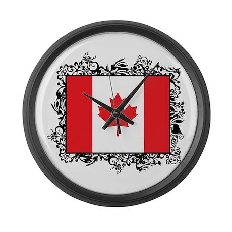 Canada large wall clock by oneworldgear for Oversized wall clocks canada