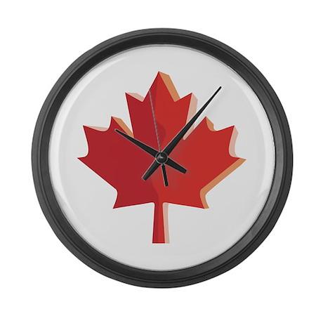 3d canada large wall clock by oneworldgear