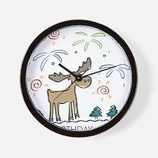Happy Birthday Canada Wall Clock