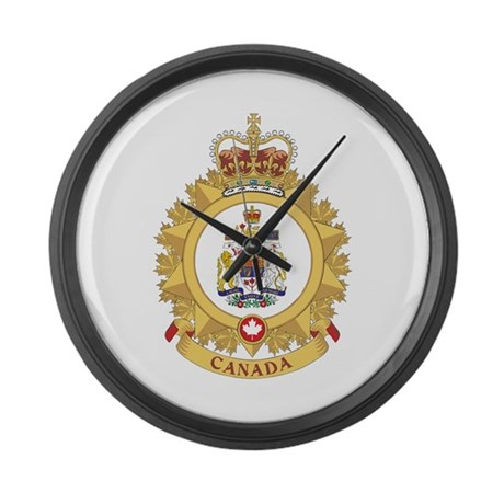 canada shield large wall clock by oneworldgear