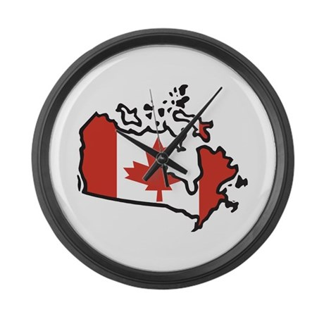 map of canada large wall clock by oneworldgear