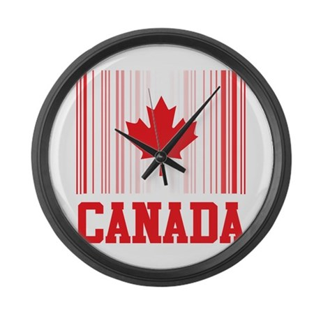barcode canada large wall clock by oneworldgear