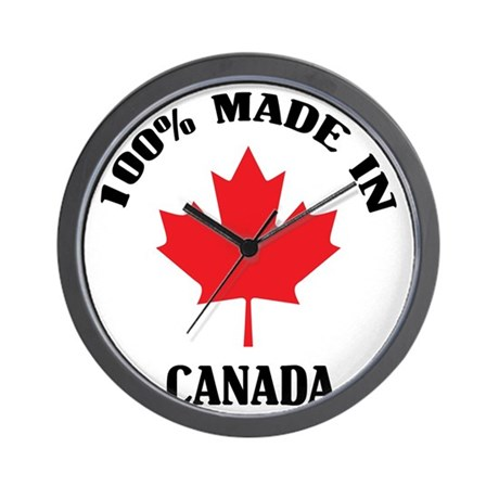 100% Made In Canada Wall Clock