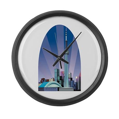 Canada toronto large wall clock by oneworldgear for Oversized wall clocks canada