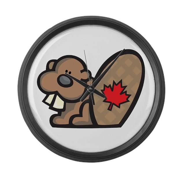 canada beaver large wall clock by oneworldgear