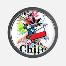Flower Chile Wall Clock