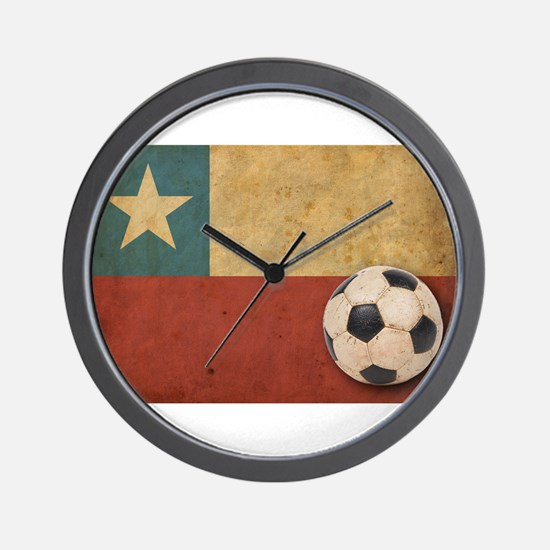 Vintage Chile Flag Wall Clock