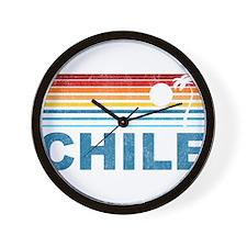 Retro Chile Palm Tree Wall Clock