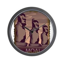 Easter Island Moai Wall Clock
