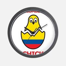 Colombian Chick Wall Clock