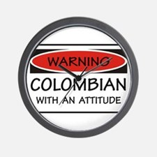 Attitude Colombian Wall Clock