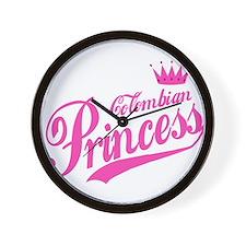 Colombian Princess Wall Clock