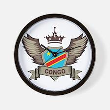 Congo Emblem Wall Clock