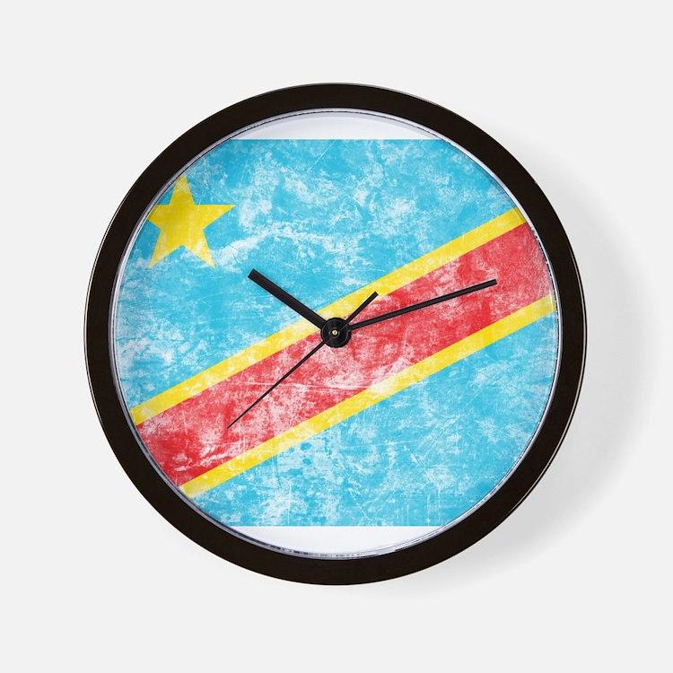 Vintage Congo Flag Wall Clock