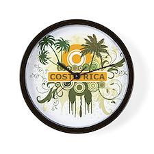 Palm Tree Costa Rica Wall Clock