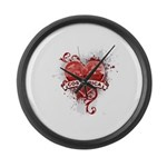 Heart Costa Rica Large Wall Clock