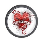 Heart Costa Rica Wall Clock