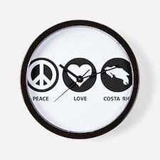 Peace Love Costa Rica Wall Clock