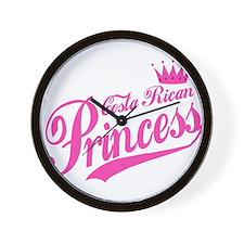Costa Rican Princess Wall Clock