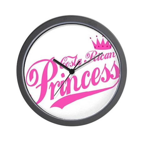 Costa Rican Princess Wall Clock