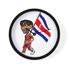 3D Costa Rica Wall Clock