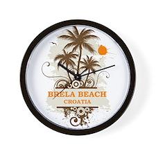 Brela Beach Croatia Wall Clock
