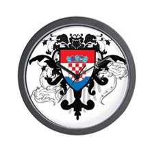 Stylish Croatia Wall Clock