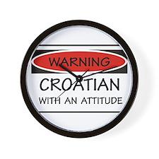 Attitude Croatian Wall Clock