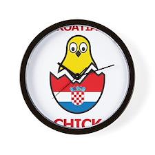 Croatian Chick Wall Clock