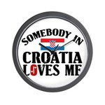Somebody In Croatia Wall Clock