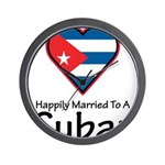 Happily Married To A Cuban Wall Clock
