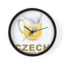 Czech Drinking Team Wall Clock