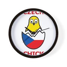 Czech Chick Wall Clock