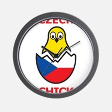 Czech Chick Wall Clock