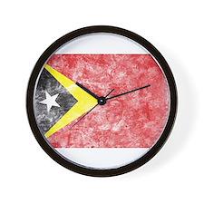 Vintage East Timor Flag Wall Clock