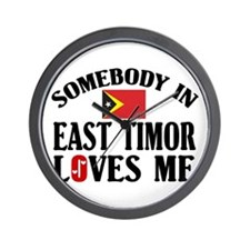 Somebody In East Timor Wall Clock