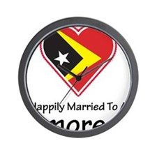 Happily Married Timorese Wall Clock