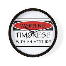 Attitude Timorese Wall Clock