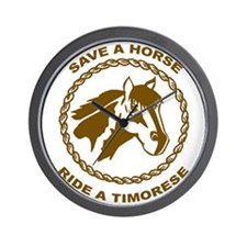 Ride A Timorese Wall Clock