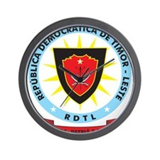 East Timor Coat Of Arms Wall Clock