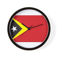 East Timor Flag Wall Clock