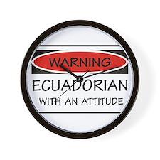 Attitude Ecuadorian Wall Clock