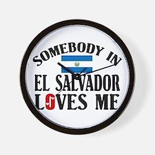 Somebody In El Salvador Wall Clock