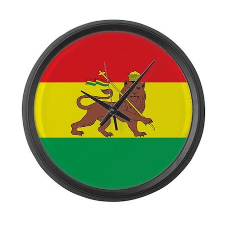 Ethiopia Flag 1897 Large Wall Clock