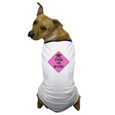 WARNING: TWINS ON BOARD Dog T-Shirt