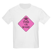 WARNING: TWINS ON BOARD Kids T-Shirt